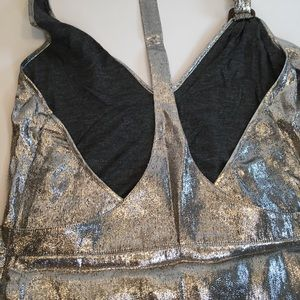 Burberry Tops - Burberry Silver Metalic  Halter Top